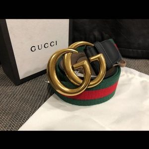 Gucci red green and black Double G
